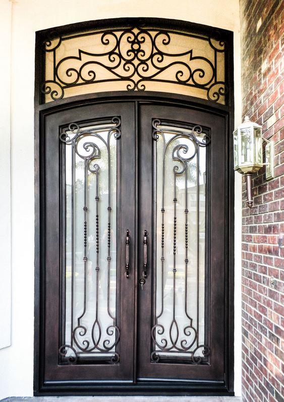 Shanghai Hench Brand China Factory 100% Custom Made Sale Australia Wrought Iron Interior Doors