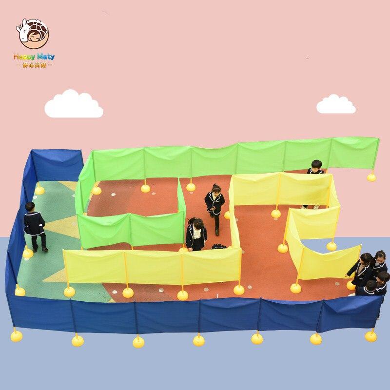 Детские игрушки для активного отдыха красочный лабиринт Детские командные игры Забавный лабиринт массив Сенсорное тренировочное оборудование групповые игровые Игрушки|Спортивная игрушка|   | АлиЭкспресс