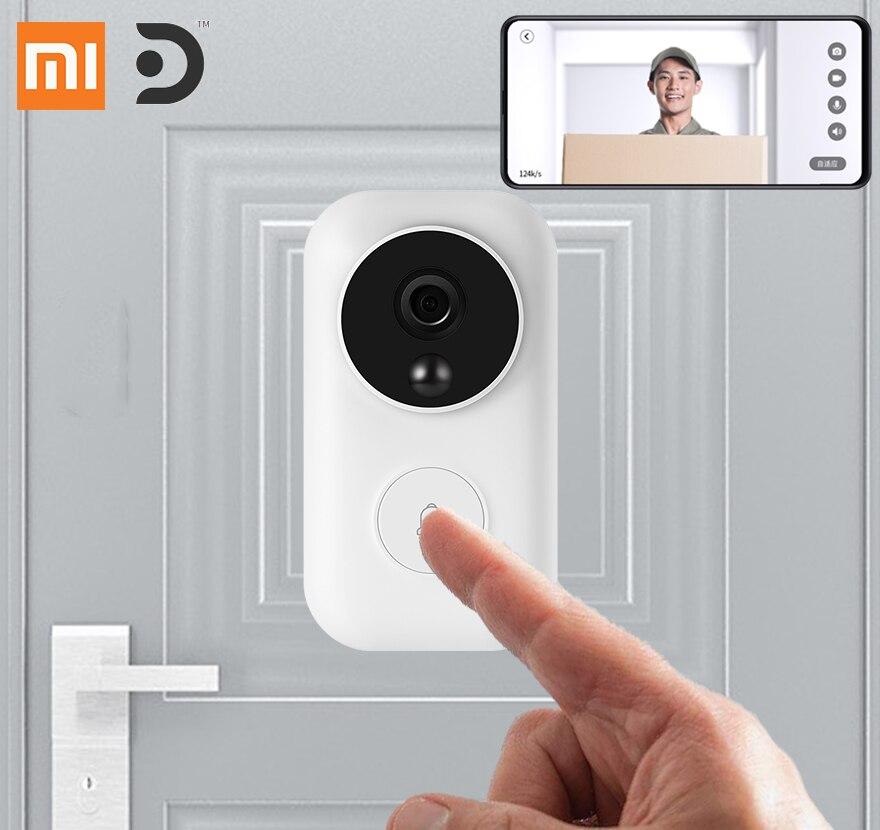 Xiaomi dingling sonnette intelligente wifi caméra interphone vidéo sans fil porte de fissure mi jia vision nocturne AI détection de visage pour la maison mi
