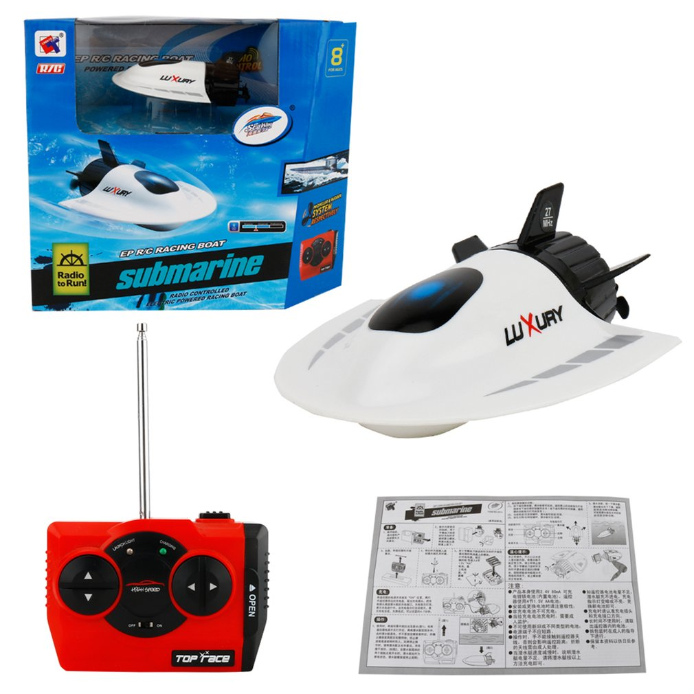 Electric RC Super Mini Remote Control High Speed Submarine 5 Channel Diving Game Toys Birthday Gift Kid Children Toys image
