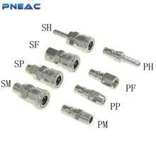 Pneac Air Schnell stecker PP30 SP30 PF30 SF30 PH30 SH30 PM30 SM30 Pneumatische fitting Hohe druck kupplung Luft kompressor C typ