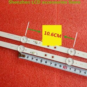 Image 2 - 4 sztuk/partia dla 6 LED HL 00320A30 0601S 07 A1 2 6 silver IP LE32/495523 hl 00320a30 6V 585mm 100% nowy