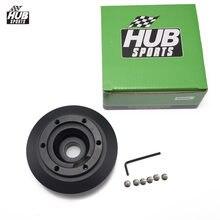 عجلة القيادة مهايئ توزيع قصيرة بوس عدة الألومنيوم الأسود لسيارات BMW E46 M3 وجميع E90 HUB KE46H