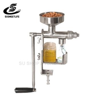 Manual Oil Press Machine Household Oil Extractor Peanut Nuts Seeds Oil Press Machine недорого