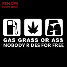 цена на Car Sticker GAS GRASS OR ASS Nobody Rides For Free Car Window Vinyl Decal Personality Motorcycle Sticker and styling accessories