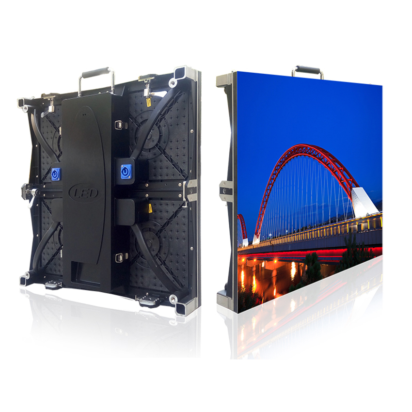 Outdoor LED Display Cabinet, 500*500mm Rental Led Screen Panel, P4.81 SMD2121 Full Color 1R1G1B RGB Led Screen Billboard Rental