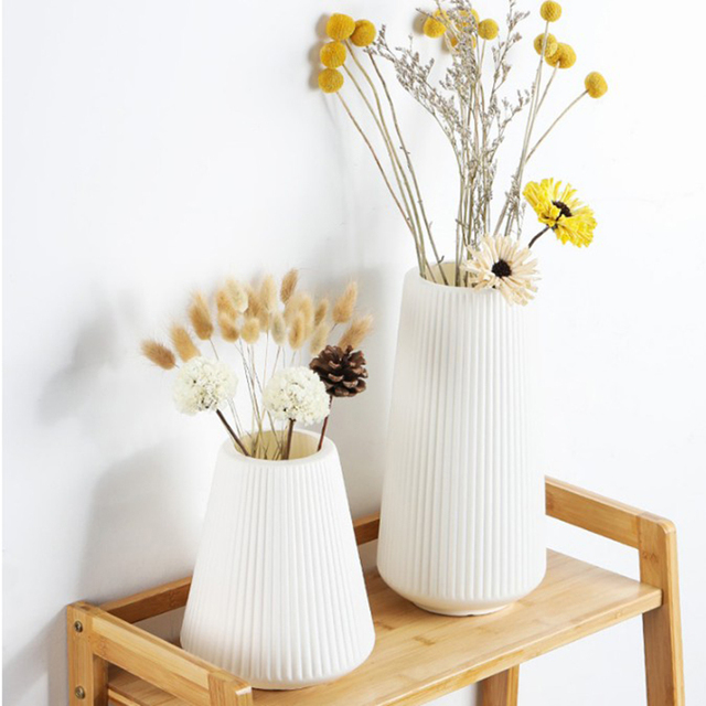 Anti-ceramic Vase European-style Home Decorations Plastic Vase Shatter-resistant Wedding Decoration Dried Flowers Real Flowers 3