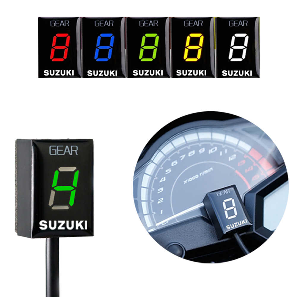 Motorfiets 1-6 Niveau Led Speed Gear Display Indicator Ecu Plug Voor Suzuki Intruder 800 V-Strom Gsx r1000r R600 750 Sv 650 Katana
