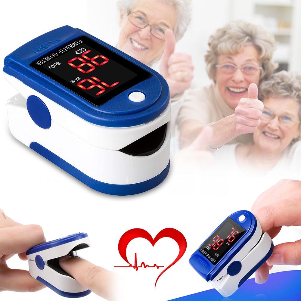 Blood Oxygen Monitor Fast Rapid Reading Finger Pulse Oximeter Mini SpO2 Monitor Oxygen Saturation Monitor Measuring Gauge Device