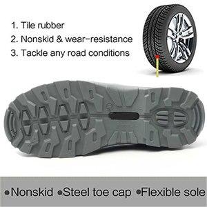 Image 3 - Suadeex サバイバル安全靴鋼つま先鋼スニーカー抗スリップ抗スマッシング作業男性作業ブーツ快適な産業靴