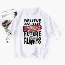 Retour Vers Le Futur Graphique Retour Vers The Future T-shirt Hip Hop Haut Pour Fille Tees Harajuku T-shirts Hommes Mode Été T-shirts