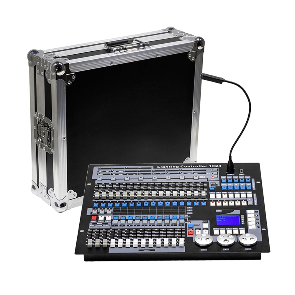 คอนโซล DMX 1024 Controller สำหรับแสงเวที DMX 512 DJ Controller อุปกรณ์มาตรฐาน 192/768/PILOT 2000 คอนโซล