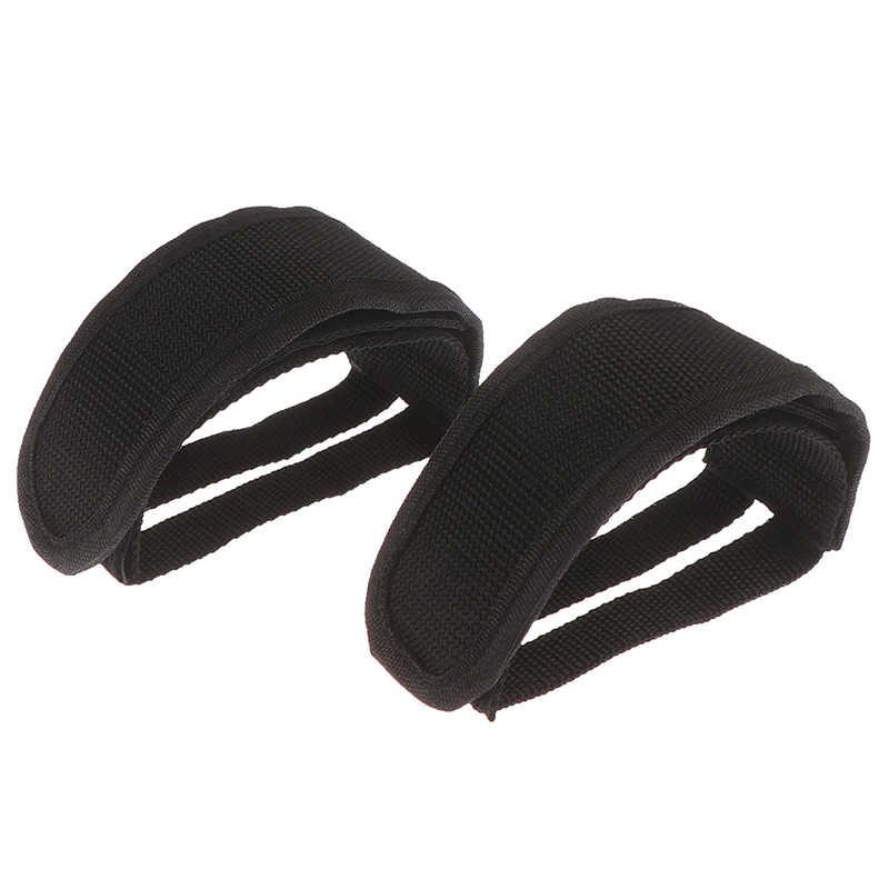 2Pcs Cycling Bicycle Fixed Gear Pedal Band Feet Set w// Strap Beam Foot Bike Belt