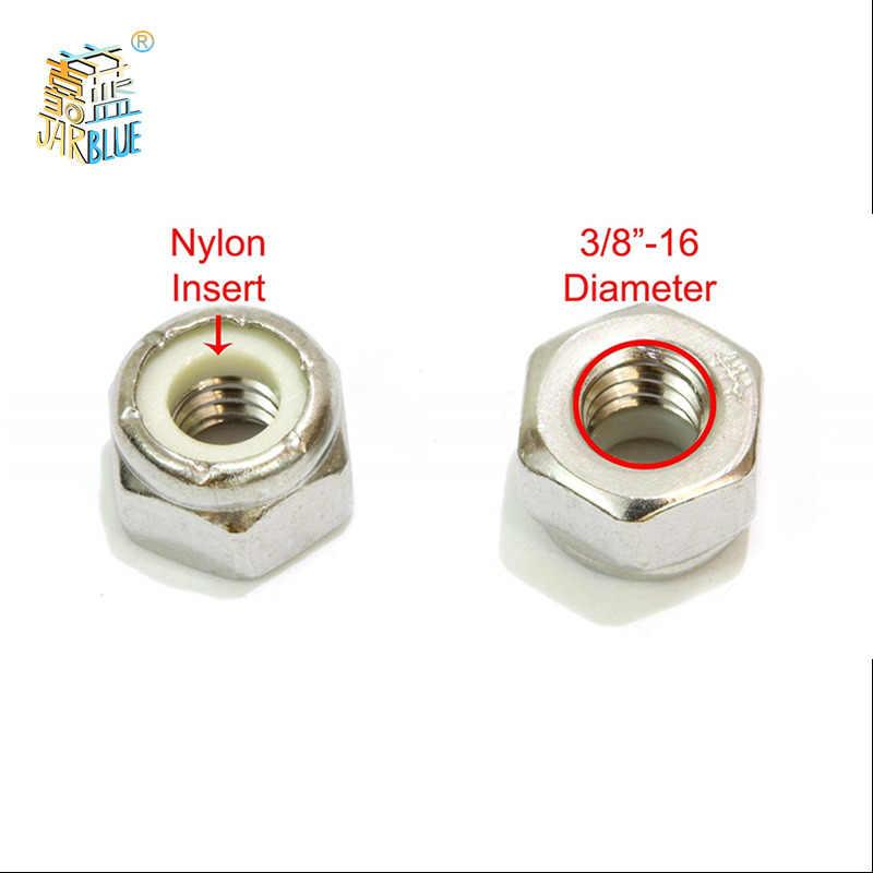 brillante de Cinc Plateado Acero paquete de 10 Inserto De Nylon Tuercas de bloqueo de bloqueo Nyloc M14