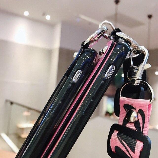 Bracelet de luxe Blu-ray caméra étui de téléphone pour iPhone 11 Pro X XS Max XR bandoulière étui de téléphone pour iPhone 8 7 6 s Plus couverture arrière