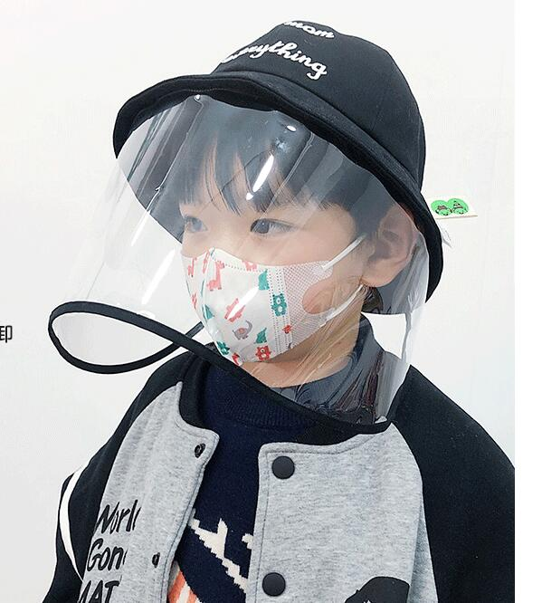Children's protective cap anti-fog baby spring and summer Korean version of the face mask fisherman hat removable dust splash pa