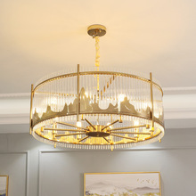 Post-modern Golden LED pendant lights Nordic luxury Crystal hanging lamp dining living room hotel bedroom home deco fixtures стоимость