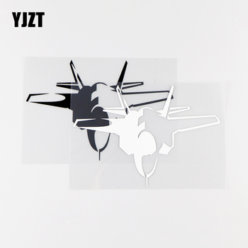 YJZT 15.4X10.6CM Personality Car Stickers Aircraft Art Decor Vinyl Decals Black / Silver 10A-0012 image