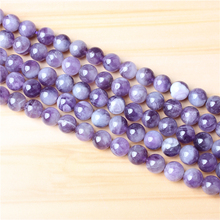 Dream Amethyst 6/8/10 mm Natural Stone Bead Spacer Jewelry Bead Loose Beads For Jewelry Making DIY Bracelet Necklace Acce