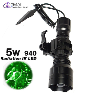 Image 5 - 10W IR 850nm LED IR LED פנס לפיד ארוך טווח אינפרא אדום ציד אור ראיית לילה לפיד בהר לחץ מתג אקדח הר