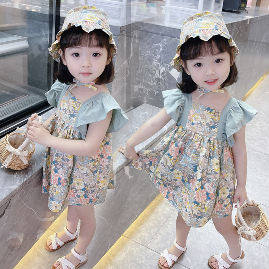 Baby Girls Dress Floral Dress For Girl Patchwork Children Dress Summer Costumes For Girls