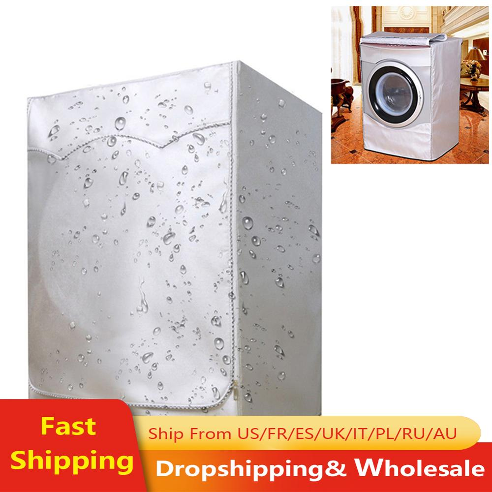 Washing Machine Cover For Front Load Washer & Home Sunscreen Laundry Dryer Waterproof Dust Proof Case Protective Dust Jacket image