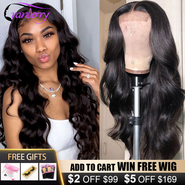 Cranberry Hair 360 Lace Frontal Wig Remy Brazilian Body Wave Human Hair Wigs For Women Pre Plucked Hairline 4x4 Lace Closure Wig