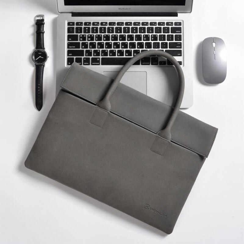 Hommes pochette d'ordinateur tablette pour Microsoft surface pro 4 5 6 solide étui pour ordinateur portable pour surface book 2 PU mat sac à main pour ordinateur portable étanche 12 pouces pochette pour ordinateur portable
