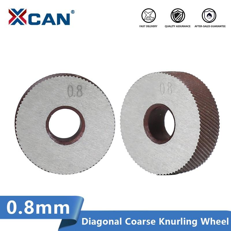 XCAN 2pcs 0.8mm Anti Slip Diagonal Coarse Knurling Wheel for Metal Lathe