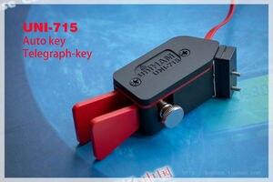 Image 4 - Gratis verzending UNI 715 Automatische Paddle Key Keyer CW Morse Code voor HAM RADIO YAESU FT 817 818 rechterhand of linkerhand