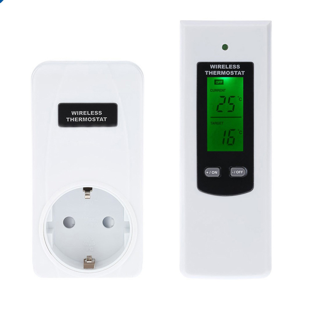 LCD Switchable With Remote Control Practical Automatic Digital Display Smart Home Alarm Temperature Thermostat Kit Wireless
