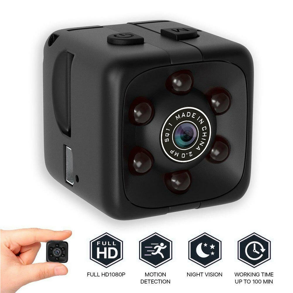 COP CAM Security Camera Video Motion Detection 32GB Card SQ11 Mini Cam Black