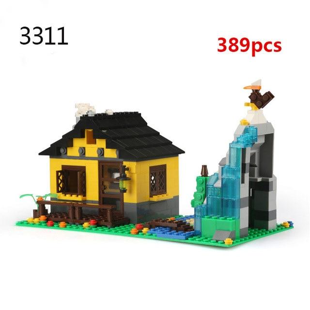 Городская архитектура вилла модель коттеджа Совместимость Legoingly друзья пляж хижина модульный дом деревенские строительные блоки детские игрушки - Цвет: 3311