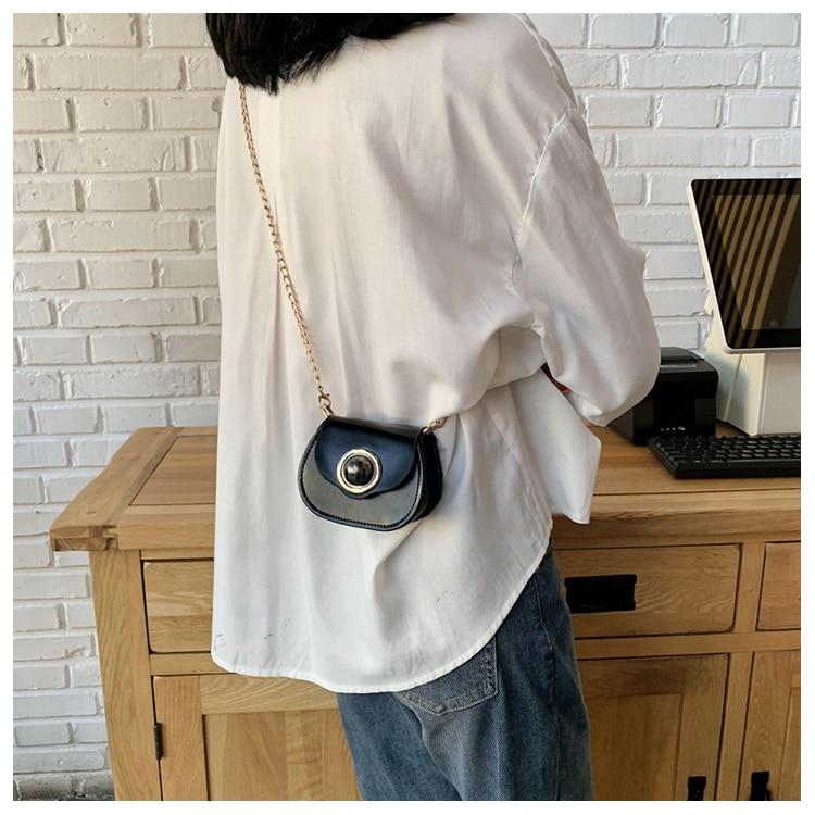 Mini Fashion Pu Soild Color Saddle Bags For Women Small Bag Leather Handbags And Lady Shoulder Bags Cross Body Bag (23)