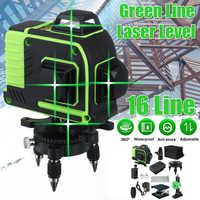 16 Line 360 Horizontal Vertical Cross 3D Green Light Laser Level Self-Leveling Measure Super Powerful Laser Beam