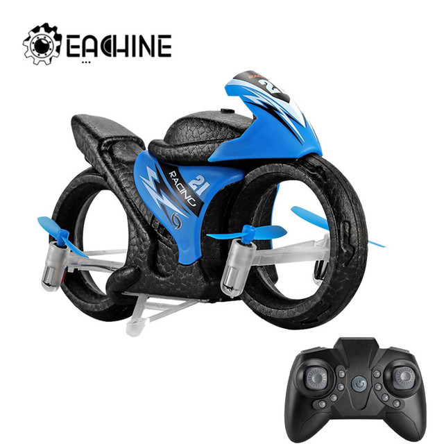 Eachine E021 2-In-1 Land/Air Mode Flying High Speed Motorcycle One Key Switch Stunt 2.4G RC Drone Intelligent Kid Toy Quadcopter