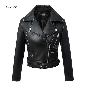 Autumn and Winter Black Faux Leather Jacket 1