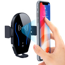 Car Air Vent Automatic Clamping Clip Phone Holder Wireless Charging Mount Bracket Charger for Smartphone OUJ99