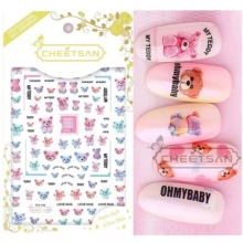 Newest TSC-111 Bear 3d nail art sticker decal stamping export japan designs rhinestones  decorations
