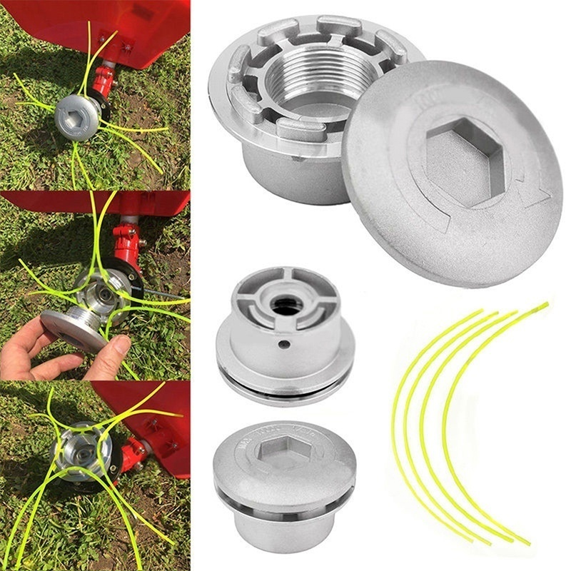 1 Pcs Universal Aluminium Strimmer Head Trimmer Heads String Set Grass Brush Cutter Accessory Tool Grass Trimmer  Head