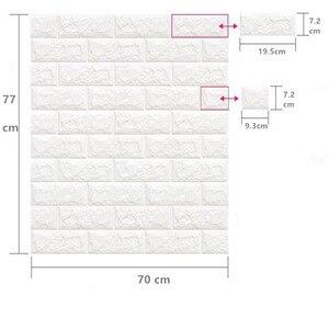 Image 3 - Adesivos de decoração de tijolo para casa, faça você mesmo, adesivos de tijolo para parede da sala de estar, quarto, espuma, arte de casa para crianças papel de parede 3d