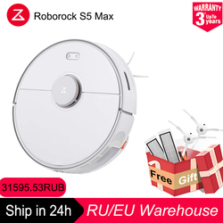 New Roborock S5 Max Robot Vacuum Cleaner Home accessories Wifi APP Control Automatic Sweep Dust Smart Planned Washing Mopping