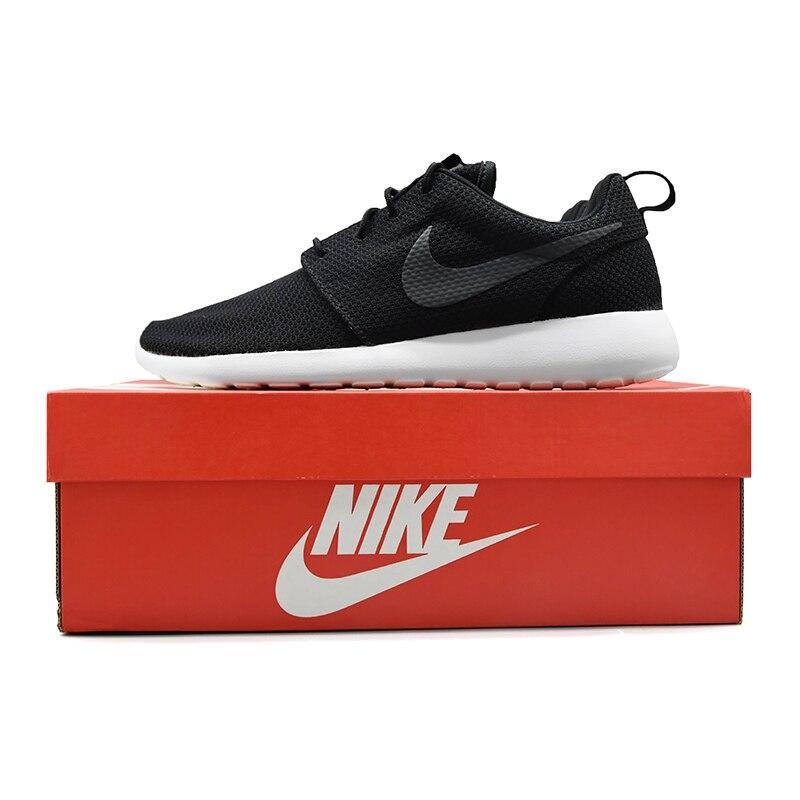 NIKE ROSHE RUN-Zapatillas deportivas originales para hombre, para  exteriores, color negro, 511881