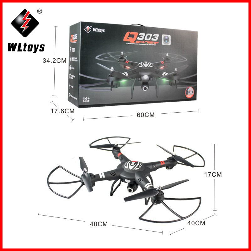 WLtoys Q303 Brand Nieuwe RC Drones 5.8G FPV 720P Camera Drone 4CH 6 Assige Gyro RTF RC Quadcopter LED Licht Headless Modus Helicopter