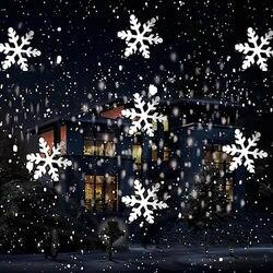 Zuczug natal floco de neve luz laser projetor neve em movimento jardim lâmpada do projetor a laser para festa de ano novo decoração