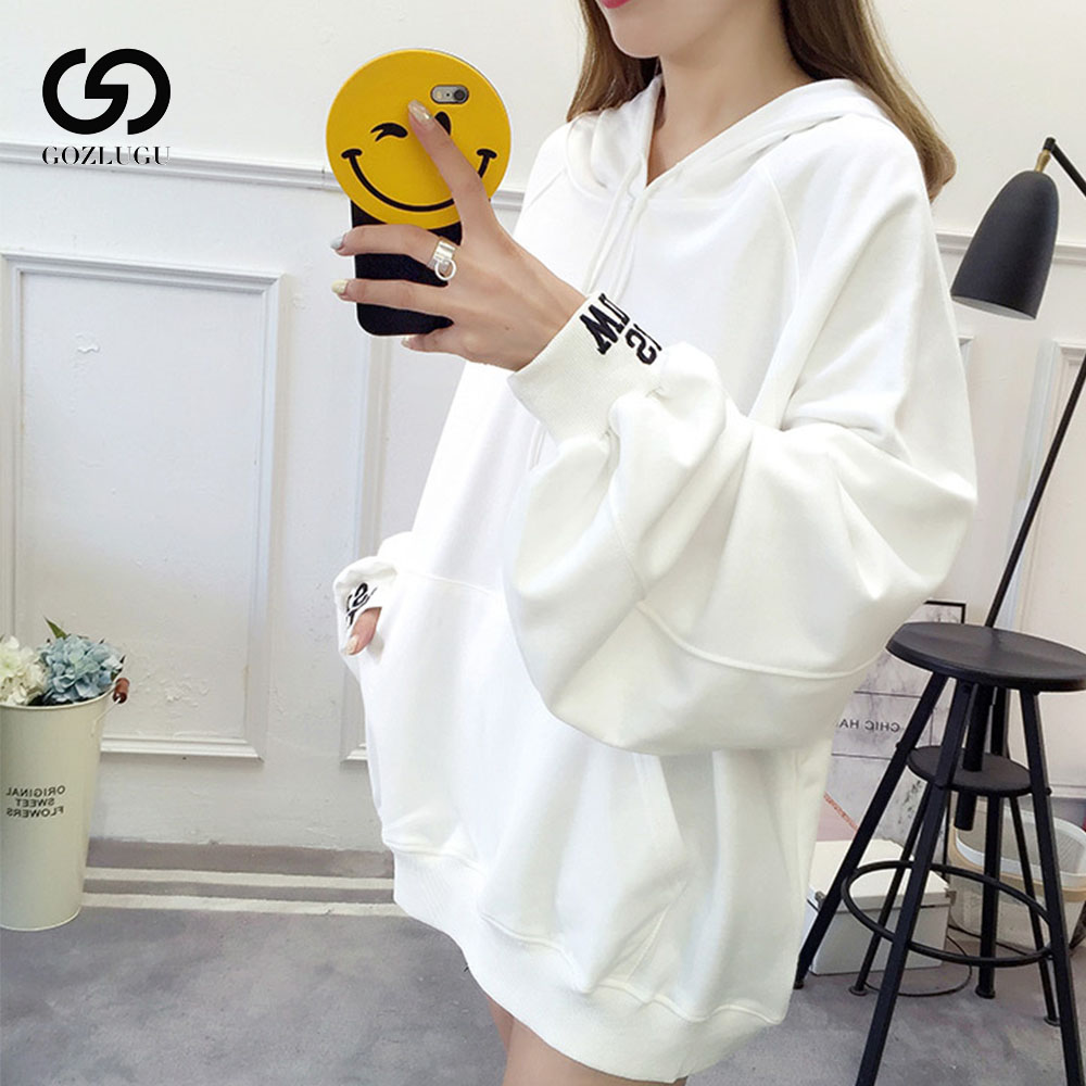2019 New Women Clothes Korean Hoodie Thin Yellow Loose Sweatshirt female