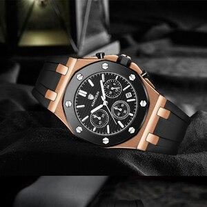 Image 5 - Relojes de marca de lujo para hombre, reloj deportivo único de oro rosa, reloj de pulsera resistente al agua con fecha de cuarzo, Masculino