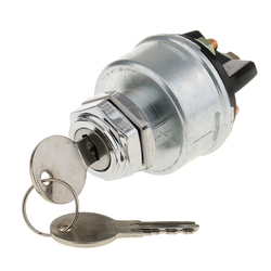 12 Volt Forklift Tractor Universal 3 Position Ignition Starter Keys Switch
