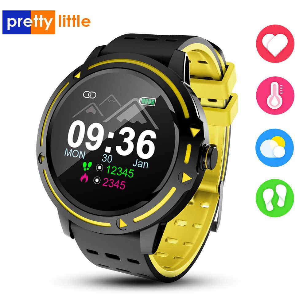 V5 Smart Watch Pria Tahan Air Layar Monitor Detak Jantung Tekanan Darah Smartwatch Olahraga Kebugaran Tracker Tidur Monitor Pedometer