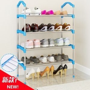 Image 3 - 10 Layer Metal/canvas Standing Shoe Rack Shoes Storage Shelf Organizer Door Removable Shoe Storage Cabinet Shelf Home Furniture